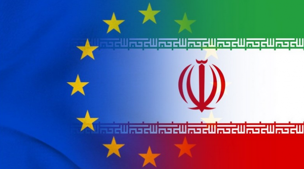 Europe and Iran flags (Tasnim)