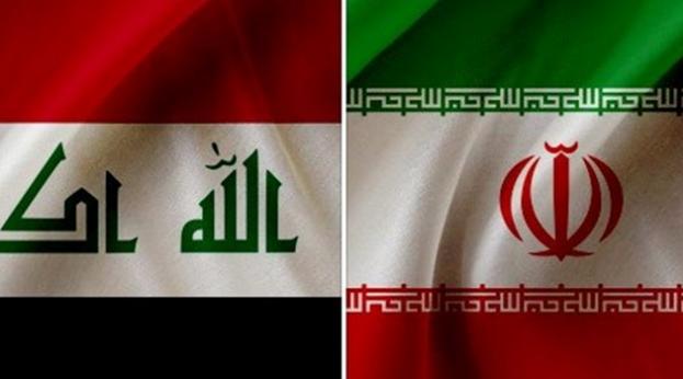 Iran Iraq flags (Tasnim)