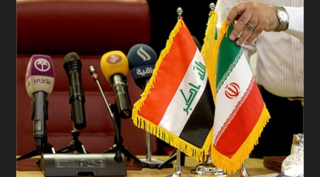 Iran and Iraq flags (Shana)