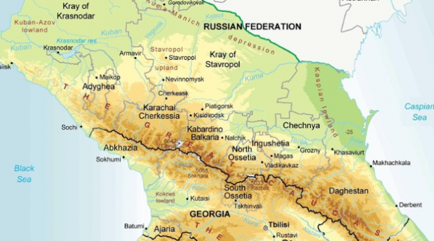 North Caucasus map (Tasnim)