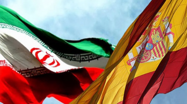 Iran and Spain flags (Shana)
