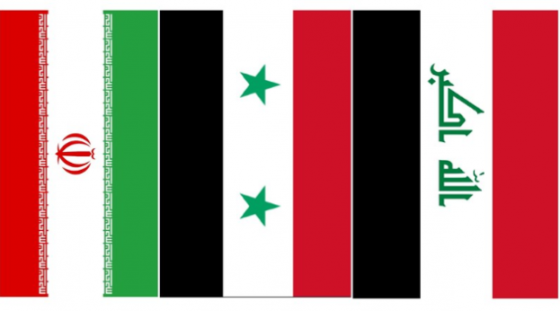 Iran, Syria,, Iraq flags (Tasnim)